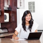 indian woman doing home finance