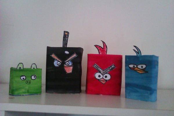 DIY Craft Tutorial – How to Make Angry Birds from a Milk Carton?