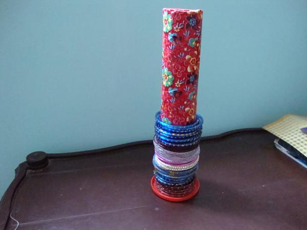 Best out of waste bangle stand tutorial for Craft work best out of waste