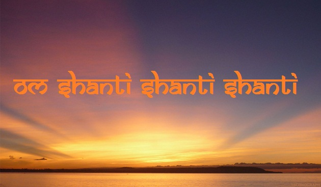 Why do we chant Shanti thrice in invocation prayers?