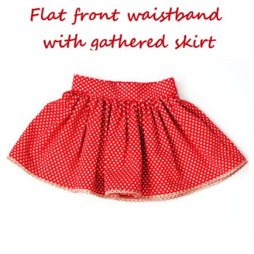 Gathered Skirt Tutorial – Flat Front and Back Elasticised