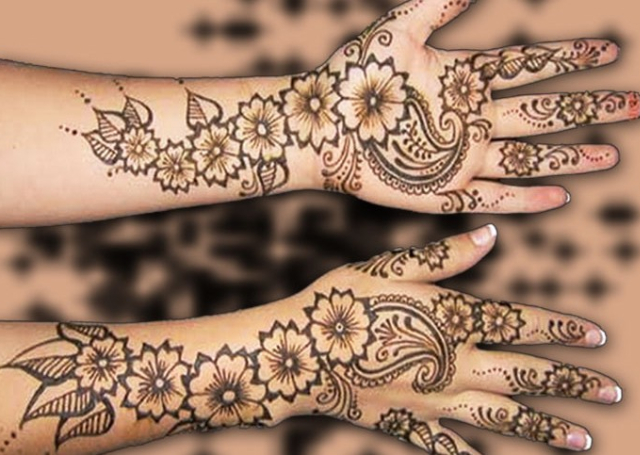 Best Arabic Mehandi Design with creeper patterns