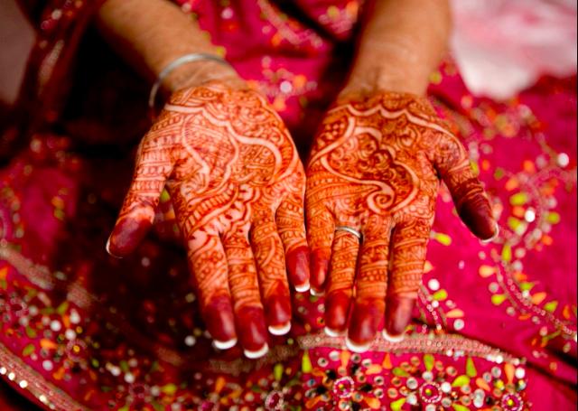Vibrant Bridal Mehandi Design