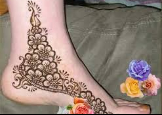 Floral design for the feet