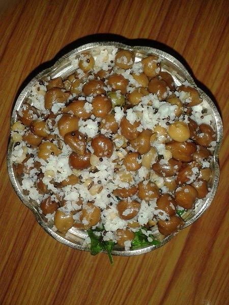 Brown gram Sundal Recipe