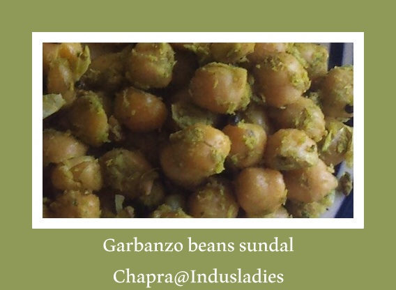 Garbanzo Bean Green Sundal