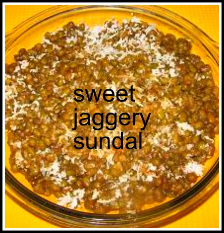 Sweet Whole moong Sundal