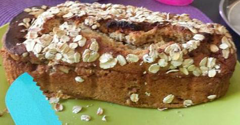 Oats Banana Bread