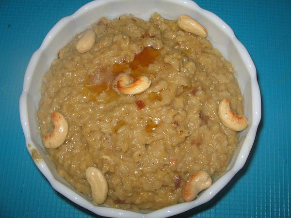 Dates and Honey Pongal