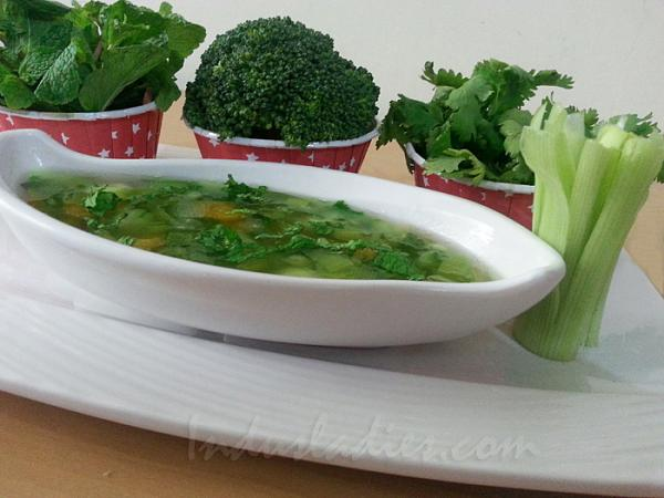 how to make veg clear soup