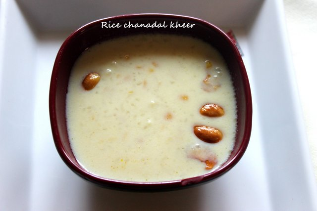 Rice and Chana dal Kheer