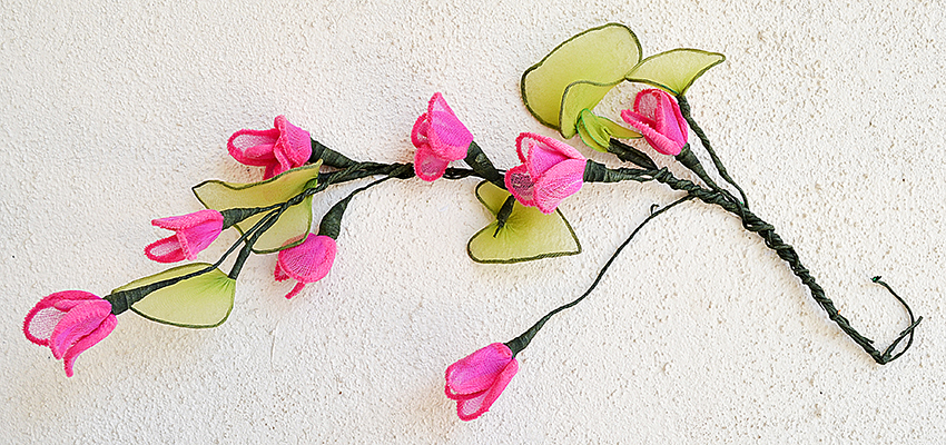 Stocking Cloth and Chenile Stem Flower