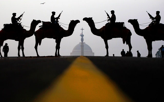 bsf_soldiers_on_camel_procession